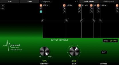 MGATE-MULTI, multiband gate output controls